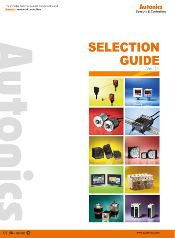 Autonics Selection Guide - Sensors / Controllers / Motion Devices